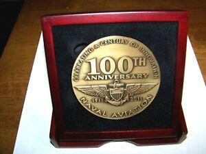 Naval Aviation 100th Anniversary Medal in Hardwood Box