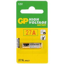 Value Range GP 27A 12V High Voltage Alkaline Battery (MN27) New Pack of 5