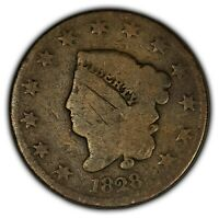 1828 1c Coronet Head Large Cent - Brothel Token - SKU-Y2393
