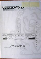 VocoPro DVX-880 PRO Multi-format Karaoke DVD DivX Player Original Owner's Manual