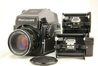 【NEAR MINT】 MAMIYA M645 PD Finder + SEKOR C 80mm f/2.8 , 120,220 Back from JAPAN