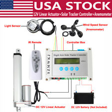 Solar Panel Tracking Single Axis Tracker 1500n Linear Actuator Anemometer Kit Do