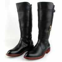 Cowboy Military Mens Riding Knee High Long Boots Motor Combat British Shoes size