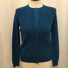 Kate Spade Saturday NWT Size S BFF Crewneck Cardigan Sapphire Color Long Sleeve