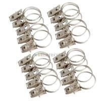 lot 20 crochets métal tissu pince clips anneaux fenêtres pour tringle à rideau