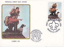 1979 Liberia Scouting / Norman Rockwell Commem.Fdc Cover - Carry On Boy / Cub Sc