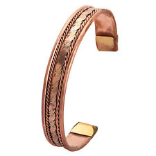 Mens Bio Magnetic Pure Copper Bracelet-Bangle Arthritis Pain Relief Strength