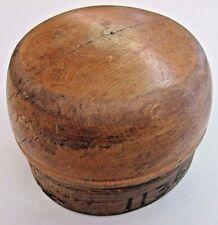 Antique Vintage Millinery HAT MOLD Solid Wood Block Form Wooden Milliner Tool !!