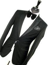 BNWT Para Hombre D&g/Dolce & Gabbana sastrería Smoking Cena Traje Ajustado 38R W32 X L32