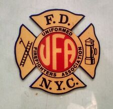 "New York City Uniformed Firefighter Association UFA (Yellow) Decal (4"")"
