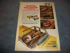 1974 Ford SuperCab Truck Vintage Ad F250 F350 Super Cab