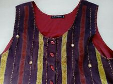 Ladies GUDRUN SJODEN Rustic Waistcoat Large to XL Size