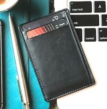 credit card holder / RFID blocking slim wallet / real leather / multiple cards