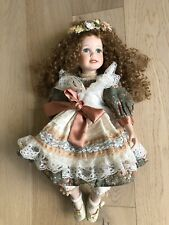20� Vintage Collectible Porcelain Doll Sitting Pearl Choker # 86051