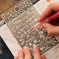 Multifunktion Ruler Lineal Für Zeichnungsvorlage Hohles Lesezeichen Stationäres