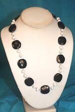 "NEW - KAZURI 22"" Jazzy Beaded Necklace Black and White sku #1670"