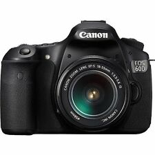 NEW Canon EOS 60D Digital camera 18.0 MP SLR With 18-55mm IS II (3 LENSES)