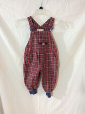 Gymboree Overalls ~ Small ~ Red Plaid ~ Snap Legs