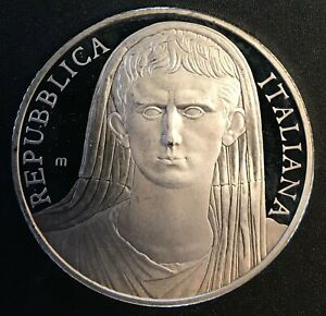 Italy - Silver 10 Euro Coin - 'death of Augustus' - 2014 - Proof