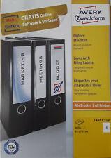 340 Etiketten 190x61 mm breite Ordnerrücken 85 Blatt A4 für breite Ordner opak