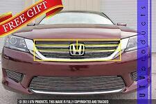 GTG 2013 - 2015 Honda Accord 4dr 5PC Polished Upper Insert Billet Grille Kit
