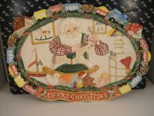 "Fitz and Floyd ""Santa's Toy Factory"" Platter 15 in. Original Box Excellent"