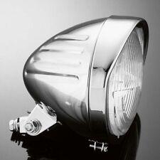 Faro anteriore cromato techglide moto Harley custom H4 diametro 135 mm