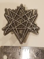 WRATHPRAYER die-cast metal pin (teitanblood, pseudogod, grave miasma, blasphemy)