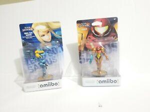 Nintendo Samus and Zero Suit Samus Amiibo Super Smash Bros US Version Wii U/3DS