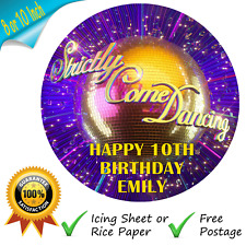 STRICTLY COME DANCING CAKE TOPPER PERSONALISED EDIBLE BIRTHDAY CAKE TOPPER