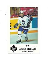 1991-92 Maple Leafs PLAY #8 Lucien DeBlois Toronto Maple Leafs