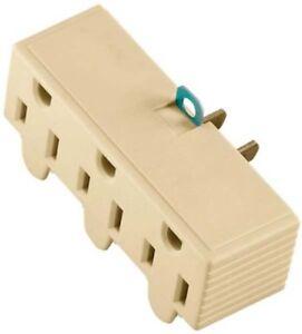Cooper 1219V-BOX Outlet Adapter, 125 V, 15 A, 3 Outlet, Ivory
