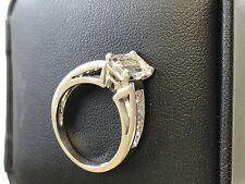2.32 Ct Emerald Cut Natural Diamond Engagement Ring 14k White Gold FREE SHIPPING