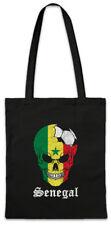 Senegal Football Skull I Shopper Shopping Bag senegalese Soccer Flag