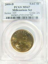 2000-D SAC $1 Native American  MILLENIUM SET PCGS MS 67 CERT# 21292785