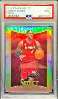 2012 Select Prizm Silver Prizm LeBron James #66 PSA 9 MINT
