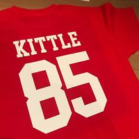 GEORGE KITTLE 85 PLAYER San Francisco 49ers SF49 TShirt TEE SIZE L LARGE
