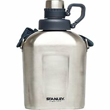 Stanley Canteen Water Bottle, Stainless Steel, 1.1 quart