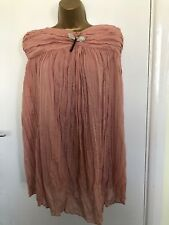 Liu Jo Ladies Short Dress Pastel Pink Coral 14 fully lined with Butterfly brooch