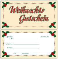 100 Gutscheinkarten Geschenkgutscheine Gutscheine  Einzelhandel Weihnachten