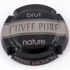 MIGNON  PIERRE  N°053h  Cuvée  Pure , Fond  NOIR , Barre GRIS