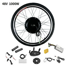 26'' Front Wheel 48V 1000W Electric Bicycle E-Bike Conversion Kit Cycling Motor