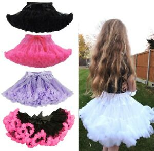CHILDREN'S KIDS TUTU FLUFFY DANCE BALLET CUTE LILAC BLACK PETTICOAT 7-9 YEARS UK