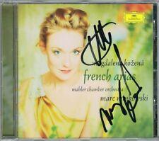 Magdalena KOZENA, Marc MINKOWSKI Signiert FRENCH ARIAS CD Auber Gounod Boieldieu