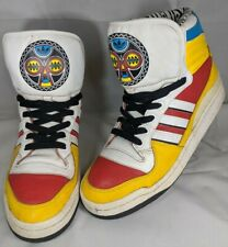 Adidas x JEREMY SCOTT AFRICA Shoes Sneakers Hi-Top Men Size 9 Rare Tribal Wings