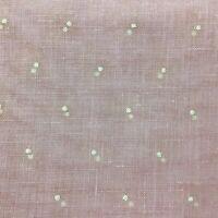 "Vintage Swiss Dot Pink Semi Sheer Fabric White Dots 3 yards x 47"""