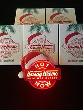 FREE SHIP!   5 KRISPY KREME DOUGHNUTS 2014 CHRISTMAS ORNAMENTS FLASHING HOT NOW