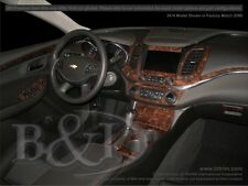 WOOD GRAIN DASH KIT FITS CHEVY IMPALA 2014-2017 ( DELUXE KIT) WITH NAVIAGTION