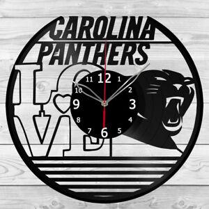 Vinyl Clock Carolina Panthers Record Wall Clock Home Art Decor Handmade 5210