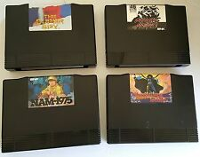 4 Neo Geo AES Cartridges Only Nam 1975 75, Magician lord, Riding Hero, Super Spy